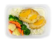 Zestaw 13: Indyk w sosie brzoskwiniowym z białym ryżem i warzywami na parze - miniaturka - raz na wozie