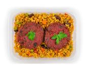Zestaw 15: Kotlety z buraka i kasza bulgur z warzywami - miniaturka - raz na wozie