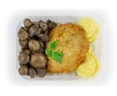 Zestaw 9: Kotlet schabowy, ziemniaki, pieczarki na maśle czosnkowym - miniaturka - raz na wozie