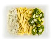 Zestaw 13: Penne, kurczak w sosie bazyliowym, brokuły - miniaturka - raz na wozie