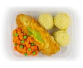 Zestaw 9: Ryba w jajku, ziemniaki, marchewka gotowana - miniaturka - raz na wozie